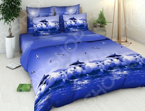Комплект постельного белья Василиса «Океан» постельное белье василиса комплект постельного белья из сатин�� 1 5 спальный