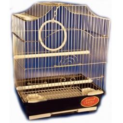 фото Клетка для птиц Золотая клетка с аксессуарами. Цвет: золотистый