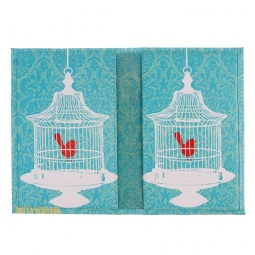 фото Обложка для паспорта двухсторонняя Mitya Veselkov «Птичка в клетке»