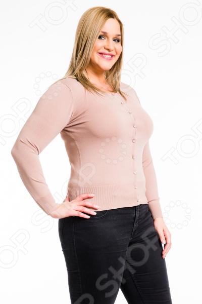 Жакет Mondigo XL 9769. Цвет: карамельныйЖакеты. Пиджаки<br>Трикотажный жакет уже давно стал универсальной вещью в гардеробе каждой женщины, ведь он идеально сочетается со многими вещами. Этот практичный и необходимый предмет обладает некоторыми преимуществами, которые заключаются в том, что его можно носить в любое время года, и выглядеть при этом всегда стильно и уместно. Такой жакет образует гармоничный дуэт с юбкой, платьем или брюками. Все что надо - это правильно расставить акценты, подобрать понравившиеся аксессуары и идеальный образ будет завершен. Жакет Mondigo XL 9769. Цвет: карамельный - классический трикотажный жакет, который станет идеальным решением для создания классического, повседневного или романтического образа. Данная модель отличается длинными рукавами, поэтому она прекрасно подойдет для прохладного времени. Округлый вырез горловины придаст образу мягкость и плавность. Главной особенностью данного жакета является оригинальная застежка на маленьких пуговицах, которая придает ему ещё более женственный вид. Облегающий крой позволит вам выгодно подчеркнуть все достоинства вашей фигуры, а красивый карамельный цвет сделает ваш образ элегантным и лаконичным. Удобная и практичная модель жакета Mondigo XL 9769 станет отличным вариантом для вашего гардероба!<br>