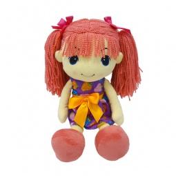 фото Кукла мягкая Maxitoys «Стильняшка с розовыми волосами»