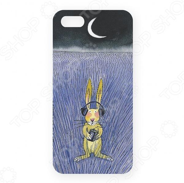 Чехол для iPhone 5 Mitya Veselkov «Заяц-меломан» чехол для iphone 5 глянцевый с полной запечаткой printio заяц в узорах