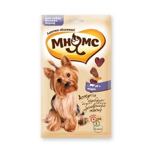 Купить Лакомство для собак мелких пород Мнямс 700064 «Ассорти: говядина, ягненок, курица»