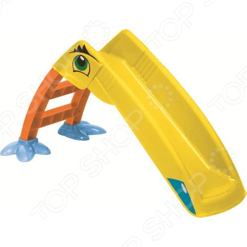 Горка детская Marian Plast «Пеликан»Игровые домики. Горки. Качели<br>Горка детская Marian Plast Пеликан - удобная и забавная красочная горка для детей возрастом от 1,5 лет. Конструкция горки состоит из небольшой лесенки, желоба для веселого скатывания. Горка изготовлена из качественного нетоксичного пластика, который отличается прочностью и долговечностью. Устойчивая конструкция проста и удобна в использовании. Она не требует специального ухода и легко моется. Горка может использоваться как в доме, так и на улице. Горка Marian Plast Пеликан отличается простой конструкцией, сбор и установка который не требует особых физических усилий и специальных инструментов. Ступеньки лесенки имеют фактурную, рельефную поверхность, которая обеспечивает безопасный подъем на горку и не позволяет ножкам скользить. Желоб оснащен высокими стенками, которые не дадут малышу случайно выпасть во время спуска. Конструкция горки достаточно легкая и может легко перемещаться с места на место. Горка детская Marian Plast Пеликан имеет следующие преимущества:  высококачественные гипоаллергенные материалы;  материал устойчив к воздействию температурных перепадов и ультрафиолетовых лучей;  безопасная и устойчивая конструкция;  легкий вес;  простая конструкция;  универсальное применение. С этой удивительной горкой ваш малыш получит незабываемые эмоции и впечатления от каждого спуска.<br>
