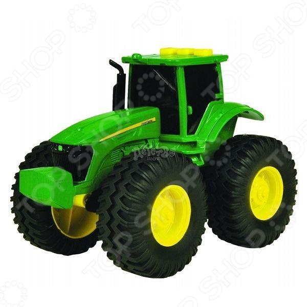 Трактор с большими колесами Tomy Deere ТО42934 tomy britains трактор john deere 6210r