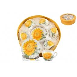 Купить Кофейный набор Elan Gallery «Желтый подсолнух»