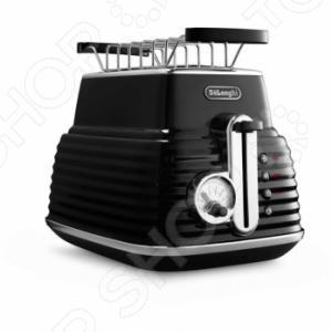 Тостер DeLonghi CTZ 2103Тостеры<br>Тостер DeLonghi CTZ 2103 - удобная, современная модель, предназначенная для одновременного приготовления двух тостов. Благодаря регулировке степени поджаривания можно приготовить тосты на любой вкус. С помощью данной модели можно поджаривать на низких режимах светлый и пшеничный хлеб, а ржаной хлеб - на высоком режиме. Слегка остывшие тосты можно подогреть с помощью специальной функции разогрева, а функция разморозки позволяет приготовить вкусные и свежие тосты из замороженного хлеба. Модель оснащена поддоном для крошек, который позволит содержать в чистоте место где стоит тостер. Так же в комплект входит решетка на которой удобно подогревать булочки. Благодаря стильному и оригинальным дизайну и хромированной отделки, тостер станет интересным украшением любой кухни.<br>