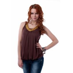 фото Майка Mondigo 8373. Цвет: коричневый. Размер одежды: 42
