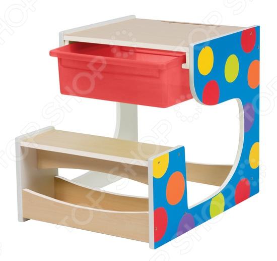 Стол-парта со скамейкой Alex 713NИгровые столики<br>Стол-парта со скамейкой Alex 713N это отличная возможность организовать для ребенка пространство для игр и первых занятий. За этим столом можно рисовать, раскрашивать, собирать конструктор или делать первые шаги на учебном поприще. В столе есть вместительный ящик для хранения необходимых для рисования и игр аксессуаров. Стол предназначен для детей от трех лет.<br>