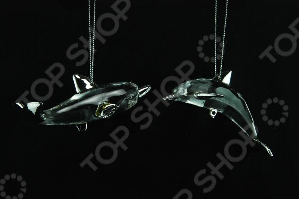 Елочное украшение Crystal Deco «Дельфин». В ассортименте