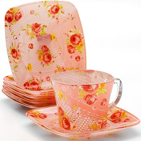 Купить Чайный сервиз Loraine LR-26669 «Розовый сад»