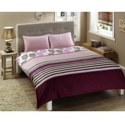 фото Комплект постельного белья TAC Venezia. 1,5-спальный. Цвет: бордовый