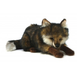 фото Мягкая игрушка для ребенка Hansa «Волк лежащий»