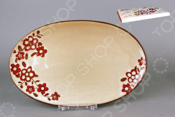 фото Блюдо овальное Коралл «Каменный цветок 2», Сервировочные блюда