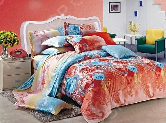 Комплект постельного белья La Noche Del Amor А-683. ЕвроЕвро<br>Комплект постельного белья La Noche Del Amor А-683 это удобное постельное белье, которое подойдет для ежедневного использования. Чтобы ваш сон всегда был приятным, а пробуждение легким, необходимо подобрать то постельное белье, которое будет соответствовать всем вашим пожеланиям. Приятный цвет, нежный принт и высокое качество ткани обеспечат вам крепкий и спокойный сон. Сатин, из которого сшит комплект отличается следующими качествами:  достаточно мягка и приятна на ощупь, не имеет склонности к скатыванию, линянию, протиранию, обладает повышенной гигроскопичностью, практически не мнется, не растягивается, не садится, не выгорает, гипоаллергенна, хорошо отстирывается и не теряет при этом своих насыщенных цветов;  современное нанесение рисунка прекрасно передаёт цвет и мельчайшие детали изображения;  за счёт специального переплетения волокон ткань устойчива к механическим воздействиям.  Перед первым применением комплект постельного белья рекомендуется постирать. Перед стиркой выверните наизнанку наволочки и пододеяльник. Для сохранения цвета не используйте порошки, которые содержат отбеливатель. Рекомендуемая температура стирки: 40 С и ниже без использования кондиционера или смягчителя воды. Постельное белье позволит разнообразить весь ваш интерьер. Ведь застеленная таким красивым комплектом кровать не может не привлекать взгляд. Приятная цветовая гамма и классический рисунок наполнят спальню особым шармом и теплом. Каждая минута, проведенная в комнате, будет вызывать исключительно приятные эмоции. Если к вам внезапно заглянут гости, то они без сомнения оценят ваш удачный вкус. В подарок идёт симпатичный магнитик, который принесет вам множество радостных моментов! Его можно использовать в качестве декорации холодильника или других металлических элементов. Этот комплект может стать прекрасным подарком на свадьбу или удачным подарком на любой праздник для ваших знакомых или родных!<br>