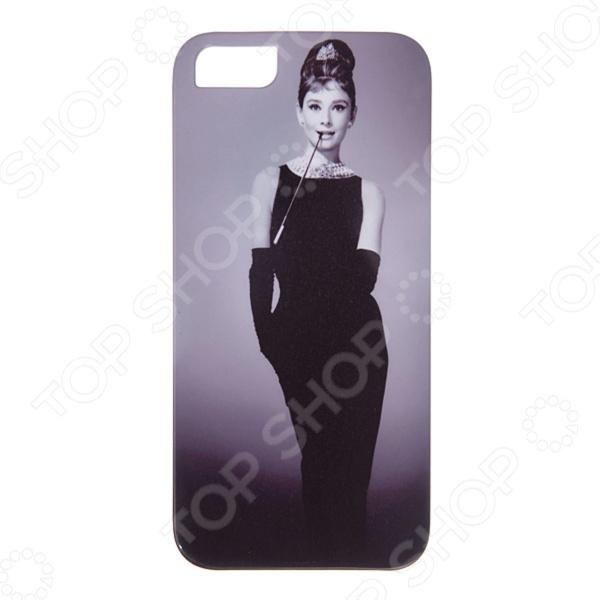 Чехол для iPhone 5 Mitya Veselkov «Одри в черном платье» чехол для iphone 7 plus звездочки на черном ip7plus mitya 022 mitya veselkov