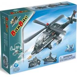 фото Конструктор Banbao 3 в 1: вертолет, танк, корабль, 295 деталей