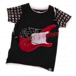 фото Футболка с аппликацией для малышей Mini Shatsu Electric Pink Guitar