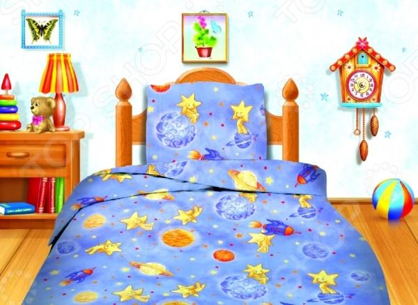 Комплект постельного белья Кошки-Мышки «Космостар». 1,5-спальный