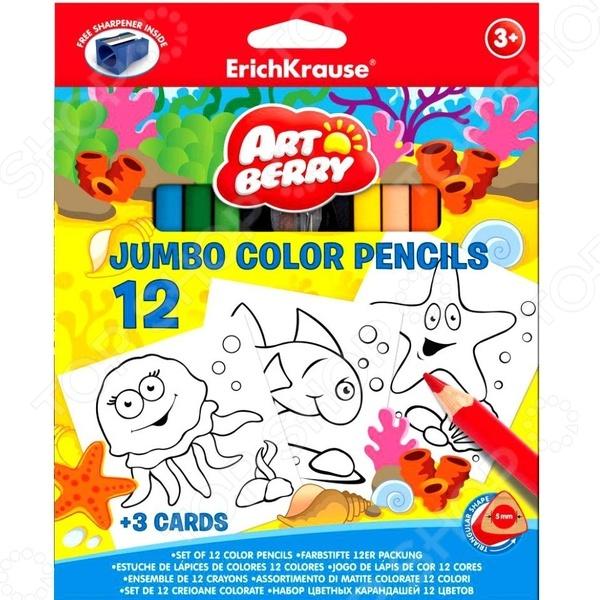 Набор карандашей с раскрасками Erich Krause Jumbo Artberry