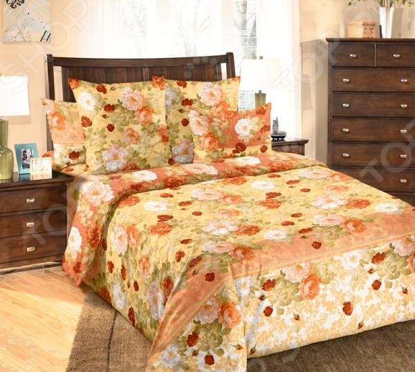Комплект постельного белья Белиссимо «Теплый день». 2-спальный2-спальные<br>Комплект постельного белья Белиссимо Теплый день 1708717 это незаменимый элемент вашей спальни. Человек треть своей жизни проводит в постели, и от ощущений, которые вы испытываете при прикосновении к простыням или наволочкам, многое зависит. Чтобы сон всегда был комфортным, а пробуждение приятным, мы предлагаем вам этот комплект постельного белья. Приятный цвет и высокое качество комплекта гарантирует, что атмосфера вашей спальни наполнится теплотой и уютом, а вы испытаете множество сладких мгновений спокойного сна. В качестве сырья для изготовления этого изделия использованы нити хлопка. Натуральное хлопковое волокно известно своей прочностью и легкостью в уходе. Волокна хлопка состоят из целлюлозы, которая отлично впитывает влагу. Хлопок дышит и согревает лучше, чем шелк и лен. Поэтому одежда из хлопка гарантирует владельцу непревзойденный комфорт, а постельное белье приятно на ощупь и способствует здоровому сну. Не забудем, что хлопок несъедобен для моли и не деформируется при стирке. За эти прекрасные качества он пользуется заслуженной популярностью у покупателей всего мира. Комплект постельного белья выполнен из ткани бязь. Бязь это одна из самых популярных тканей. Постоянному спросу на такую ткань способствует то, что на протяжении многих лет она остается незаменимой в производстве постельного белья, медицинской одежды, мужских сорочек и даже детских пеленок. Это объясняется уникальными свойствами такой ткани: гладкая и приятная на ощупь, но в то же время очень прочная и стойкая к многочисленным стиркам. Комплект из бязи прослужит очень долго, если соблюдать простые рекомендации. Необходимо стирать при температуре 40 , используя порошок для цветного белья. Не применять хлорсодержащие средства и отбеливатели. Желательно выворачивать белье наизнанку перед стиркой. Гладить при помощи утюга с функцией подачи пара или через влажную ткань.<br>