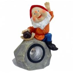 фото Фонарь декоративный на солнечной батарее Valenсia «Гном на камне»