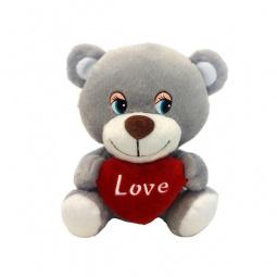 фото Мягкая игрушка со звуком Maxiplay «Мишутка с сердцем»