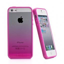 фото Чехол и пленка на экран Muvit Sunglasses для iPhone 5. Цвет: розовый