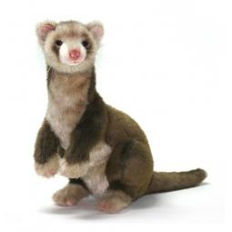 фото Мягкая игрушка для ребенка Hansa «Хорек коричневый»