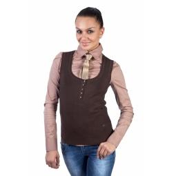 фото Жилет Mondigo 9402. Цвет: коричневый. Размер одежды: 42