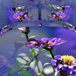 фото Комплект постельного белья Domomania Balattion. Satin Fotoprint. Евро