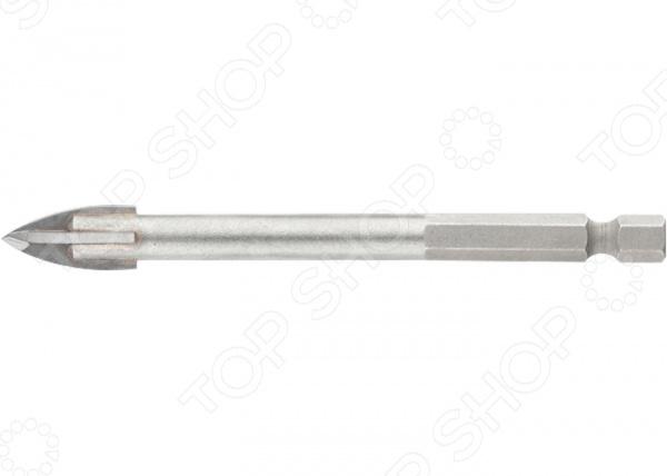 Сверло по керамической плитке БарсСверла<br>Сверло по керамической плитке Барс выполнено из высокопрочных материалов и предназначено для сверления отверстий в керамической плитке. Изделие имеет высокий ресурс работы, практично и долговечно в использовании. Сверло снабжено крестовой пластиной и шестигранным хвостовиком.<br>