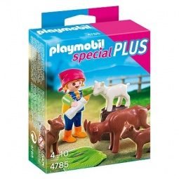фото Набор фигурок к игровому конструктору Playmobil «Дополнение: Девочка с козлятами»