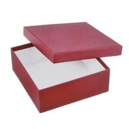 фото Коробка подарочная Феникс-Презент «Алый». Размер: L (16х16 см). Высота: 6,3 см