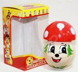 Неваляшка Грибочек - прекрасная игрушка, которая относится к категории самообучающих игрушек. Вам не надо учить малыша играть с ней, он самостоятельно поймет что нужно делать. Яркие и красочные цвета, приятное мелодичное звучание бубенцов при каждом движении вызывает у малыша желание постоянно дотрагиваться и катать неваляшку. Эта небольшая и оригинальная игрушка будет незаменима в развитии логического мышления ребенка, координации движений, мелкой моторики рук, цветового и тактильного восприятия. Неваляшка в виде грибочка выполнена из качественных материалов, которые совершенно безопасны для детского здоровья.