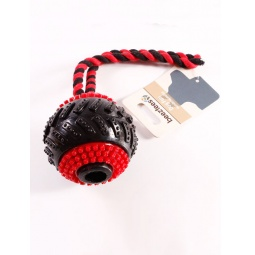 фото Игрушка для собак Beeztees «Мяч шипованный на веревочке»