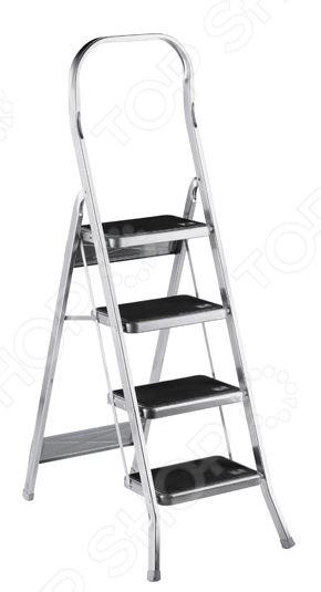 Стремянка SCAB Rudiano BalzoСтремянки<br>Стремянка SCAB Rudiano Balzo это не просто складная лестница, а очень нужный и полезный в быту и домашнем хозяйстве инвентарь. Она достаточно функциональна в использовании и просто необходима для выполнения ремонтных работ, требующих поднятия на высоту, превышающую ваш собственный рост. Кроме того, стремянка пригодится и для чисто бытовых ситуаций, как, например, необходимость вкрутить лампочку или же достать с верхней полки банку с любимым вареньем. Лестница имеет достаточно устойчивую конструкцию, выполнена из высококачественного алюминия и снабжена широкими перекладинами, фиксатором ступени и накладками на ножках. Для обеспечения безопасности, на ступенях предусмотрены противоскользящие накладки.<br>