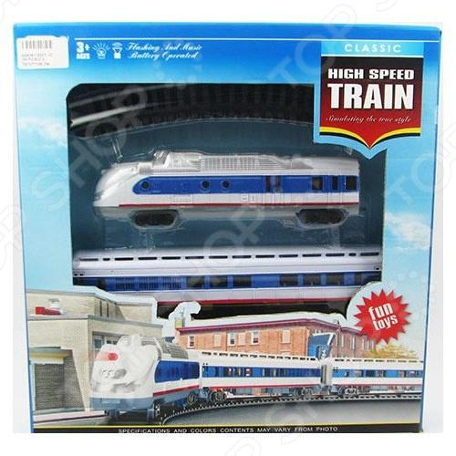 Набор железной дороги игрушечный Play Line «Экспресс»Железные дороги<br>Набор железной дороги игрушечный Play Line Экспресс это реалистичная копия настоящего скоростного поезда. Набор состоит из нескольких деталей, которые юный механик должен собрать сам. Рельсы имеют очень простые, но надежные способы крепления. Игрушка оснащена световыми и звуковыми эффектами, что сделает игровой процесс еще более реалистичным. Во время игры с такой машиной у ребенка развивается мелкая моторика рук, фантазия и воображение. Не упустите шанс порадовать своего ребенка замечательным подарком!<br>