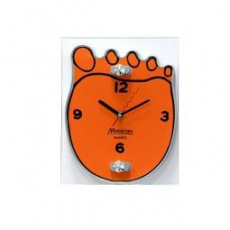 фото Часы настенные Marmiton «Ступня». Цвет: оранжевый
