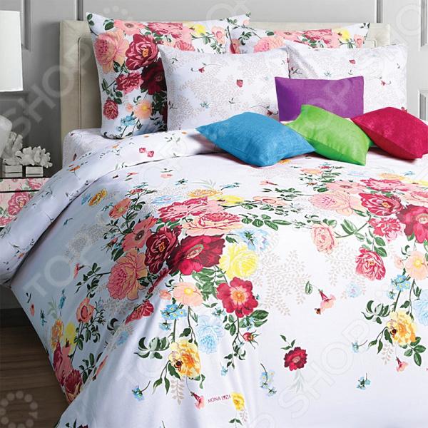 Комплект постельного белья Mona Liza Camelia. 2-спальный2-спальные<br>Комплект постельного белья Mona Liza Camelia это идеальное сочетание уюта и комфорта, которое создаст атмосферу нирваны и покоя в вашей спальной комнате. Импортный материал изделия отличается гигиеническими показателями и удивительным образом соединяет в себе манящий блеск и нежное прикосновение мягкой ткани. Ткань полотняного переплетения выполнена из набивной бязи. Комплект практически не мнется. Широкие куски полотна сшиваются исключительно бельевым швом. Наволочки не электризуются, а также на них практически невозможно запутать волосы, что явно оценят представительницы прекрасного пола. Оформление композиции выполняется с помощью высококачественных красок, которые передают и сохраняют весь цветовой спектр оттенков. Современные краски не выгорают на солнце и способны пережить более 3000 стирок, не теряя своих свойств. Ухаживать за тканью очень просто и не требует особых навыков. Рисунок комплекта поражает нежностью и насыщенностью красок. Удивительный узор покрывает все полотно и копируется на каждом элементе набора. Заправленная постель превращается в райский уголок, где вы сможете позабыть о будничных проблемах и окунуться в мир сновидений!<br>