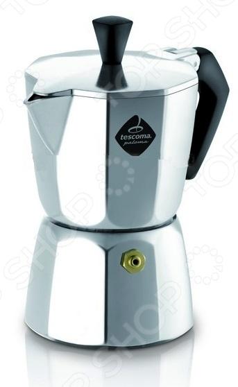 Кофеварка для 1 кружки Tescoma PalomaКофеварки. Кофемолки. Турки<br>Кофеварка для 1 кружки Tescoma Paloma отличный выбор для любителей бодрящего крепкого кофе. Она станет отличным дополнением к набору кухонной утвари и даст возможность каждый день радовать домочадцев ароматным свежесваренным кофе. Кофеварка выполнена из высококачественного алюминия и снабжена пластиковыми ручками и силиконовой прокладкой. Торговая марка Tescoma это синоним первоклассного качества и стильного современного дизайна. Компания занимается производством и продажей кухонных инструментов, аксессуаров, посуды и т.д. Функциональность, практичность и инновационные решения вот основные принципы торгового бренда Tescoma.<br>