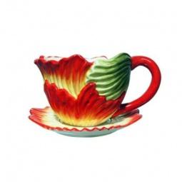 фото Кашпо декоративное Valenсia «Лепестки мака»