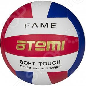 Мяч волейбольный Atemi FameМячи волейбольные<br>Мяч волейбольный Atemi Fame предназначен как для любительского волейбола, так и для профессиональных тренировок. Волейбол очень популярная игра. Для любительской игры вам не потребуются специальные навыки, вы сможете всему научиться непосредственно во время игры. В процессе игры в волейбол тренируются различные группы мышц, улучшается сердечная деятельность и деятельность дыхательной системы.<br>