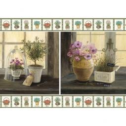 Купить Декупажная карта Karalliki «Цветы на окне»