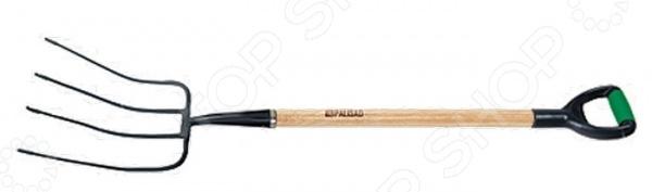 Вилы сенные PALISAD 63801Вилы<br>Вилы сенные PALISAD 63801 с четырьмя зубьями. Инструмент используется для вскапывания мягкой почвы, выкапывания клубневых растений, а также для подбора и погрузки скошенной травы. Вилы изготовлены из прочного закаленного металлического материала твердость 40 HRC . Эргономичная рукоятка выполнена из натурального вяза, обеспечивает высокий комфорт и эффективность работы. Размер рабочей части 320х255 мм.<br>