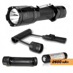фото Набор тактический Fenix: фонарь TK16, аккумулятор ARB-L2, зарядное устройство, ARE-X1, кнопка AER-03