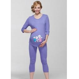 Купить Леггинсы для беременных Nuova Vita 5202.12. Цвет: сиреневый