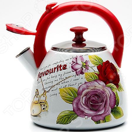 Чайник со свистком Mayer&amp;amp;Boch MB-23085Чайники со свистком и без свистка<br>Чайник со свистком Mayer Boch MB-23085 это чайник привлекательного дизайна, который будет не просто полезным аксессуаром на кухне, но и ее украшением. Достаточно большой объем чайника позволяет закипятить в нем достаточно воды для чаепития всей семьей. Свисток своевременно сообщит вам о закипании воды, так что вы можете не волноваться, что она случайно выкипит.<br>