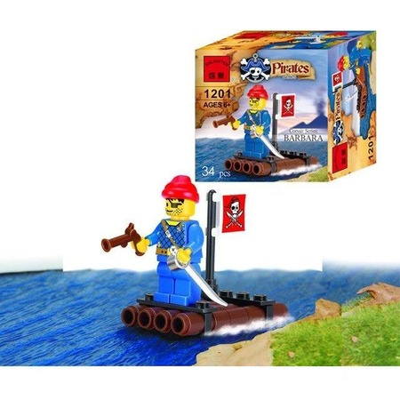Купить Конструктор игровой Brick «Пиратский плот» 1717074