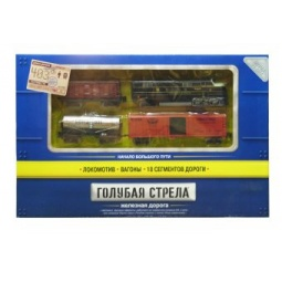 фото Набор железной дороги со светозвуковыми эффектами Голубая стрела 87123